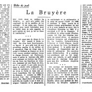 «La Bruyère»