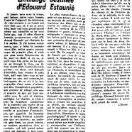«L'étrange destinée d'Édouard Estaunié»