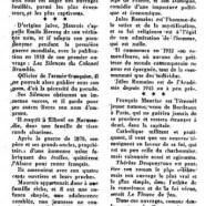 «Trois grands d'aujourd'hui : Mauriac, Maurois, Romains»