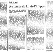 «Au temps de Louis-Philippe»