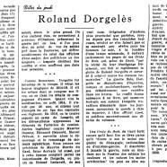 «Roland Dorgelès»