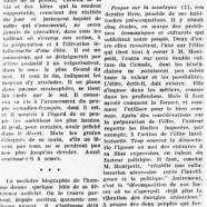 «M. Édouard Montpetit et ses derniers propos»