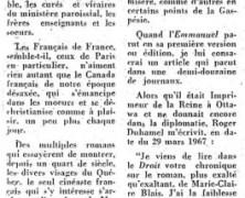 «L'Emmanuel de M.-Claire Blais va montrer, au cinéma, la Gaspésie par des paysages de l'Auvergne»