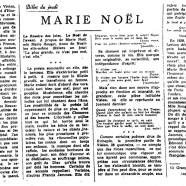 «Marie Noël»