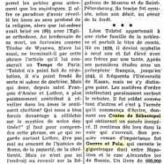«Cinquante ans après la mort de Léon Tolstoï»