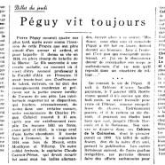 «Péguy vit toujours»