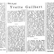 «Yvette Guilbert»