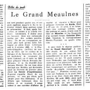 «Le Grand Meaulnes»