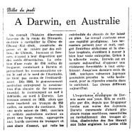 «À Darwin, en Australie»