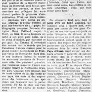 «Les intéressantes recherches de René Caillaud»