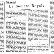 «La Société royale»