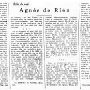 «Agnès de Rien»