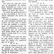 «De Félix Leclerc, poète et romancier»