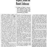 «La journée d'un député, selon Me Daniel Johnson»