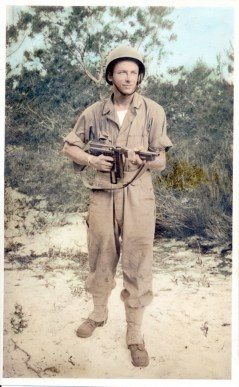 Dad with Tommy Gun