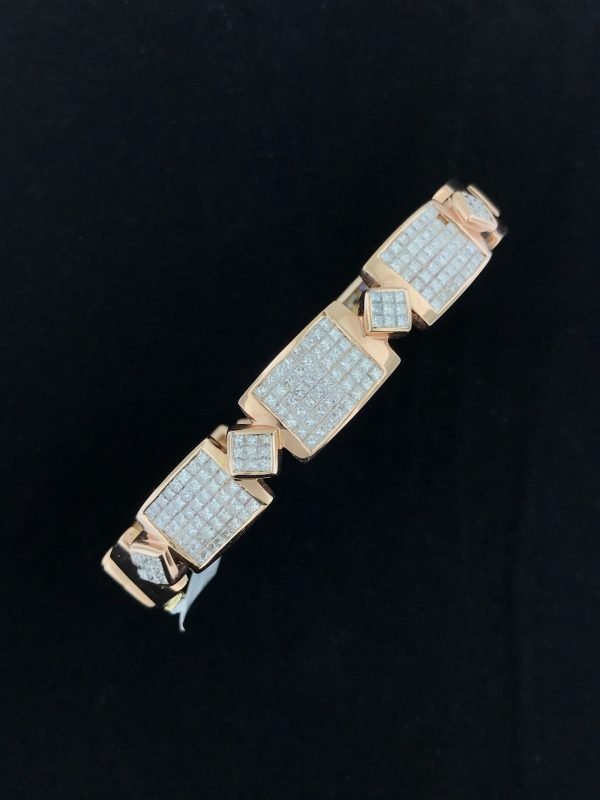 Harry Glinberg Jewelers - Rose Gold Diamond Bangle