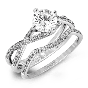 Harry Glinberg Jewelers - 18K White Gold Wedding Set