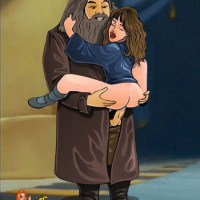 Hermione loves getting penetrated by Hagrid's thick giant cock.
