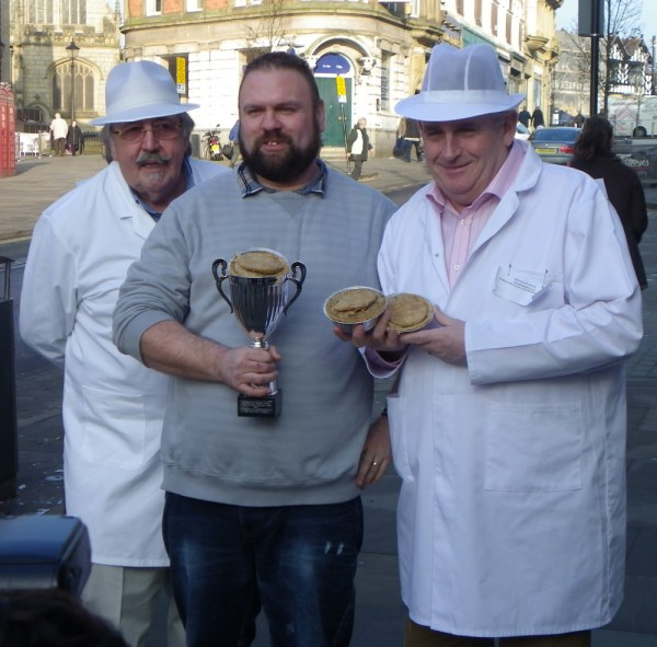 World Pie Eating Champion at Harry's Bar Wigan