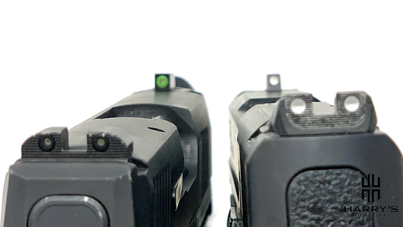 Sig P365 vs SW Shield sight picture