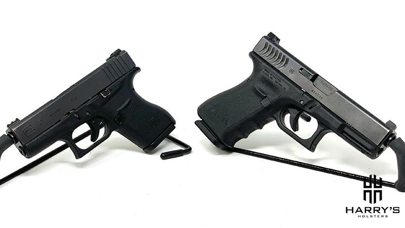 Glock 19 vs Glock 43 facing away