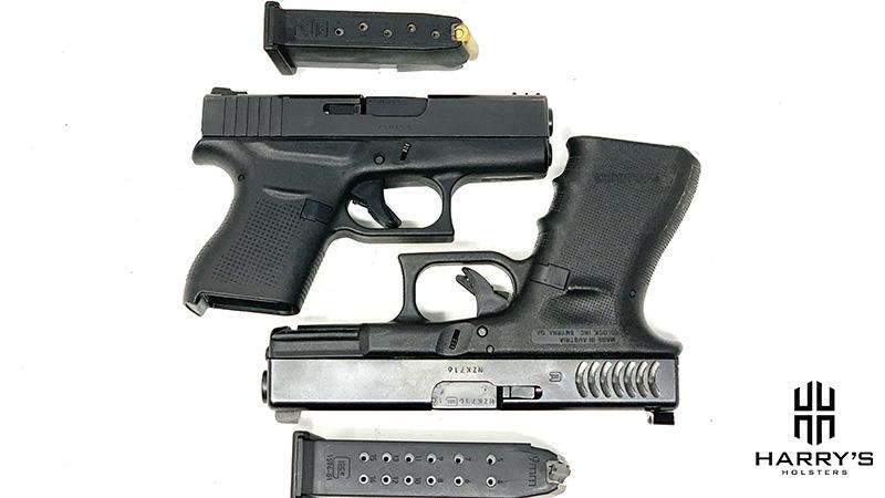 Glock 19 vs Glock 43 with magazines