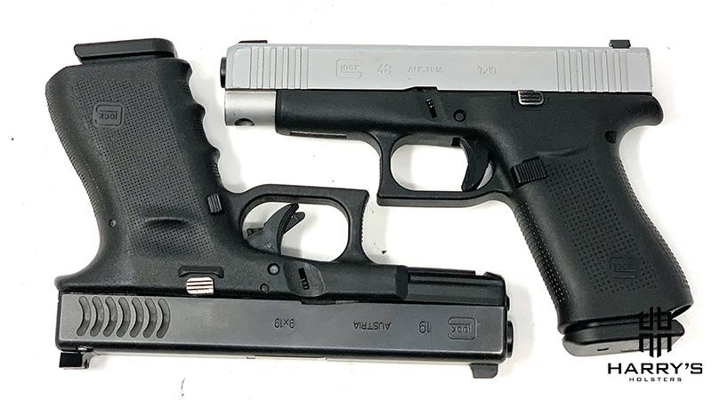 Glock 19 vs Glock 48 square