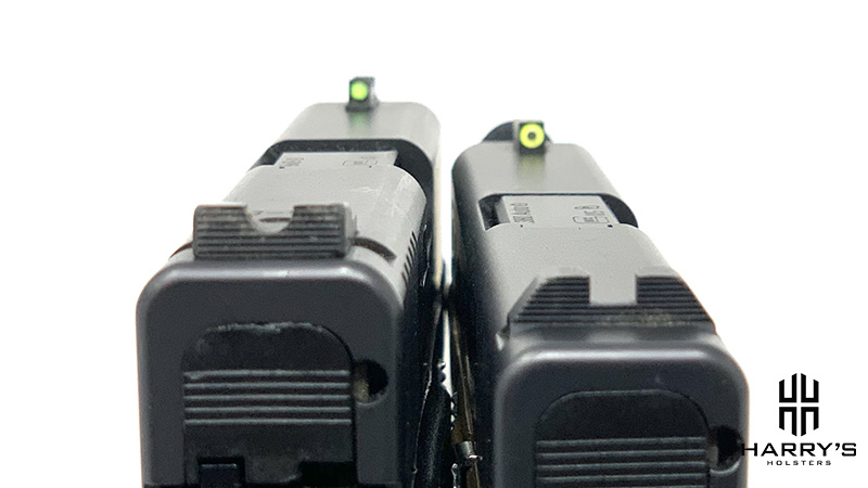 Glock 42 vs Glock 43 sights