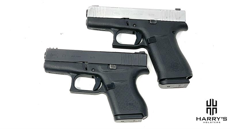 Glock 43 vs Glock 43x top