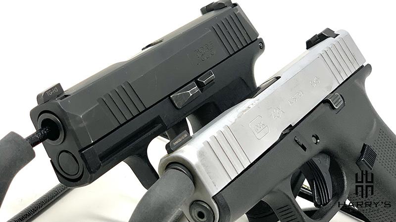 Glock 43x vs Sig P365 side by side