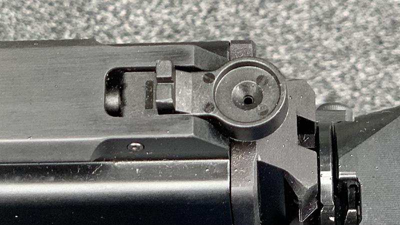 Stribog SP9A1 Rear Sight Folded
