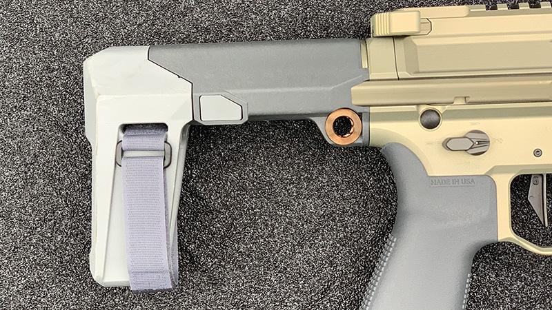 Honey Badger Pistol Brace Collasped