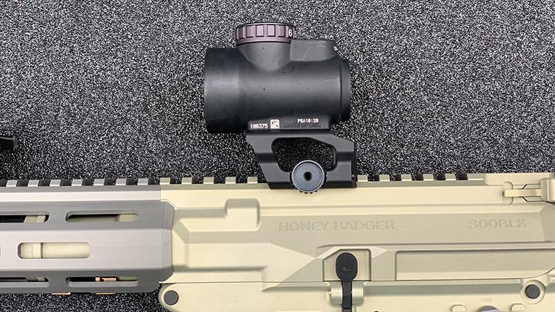 Honey Badger Pistol Trijicon MRO Scaler Works Mount