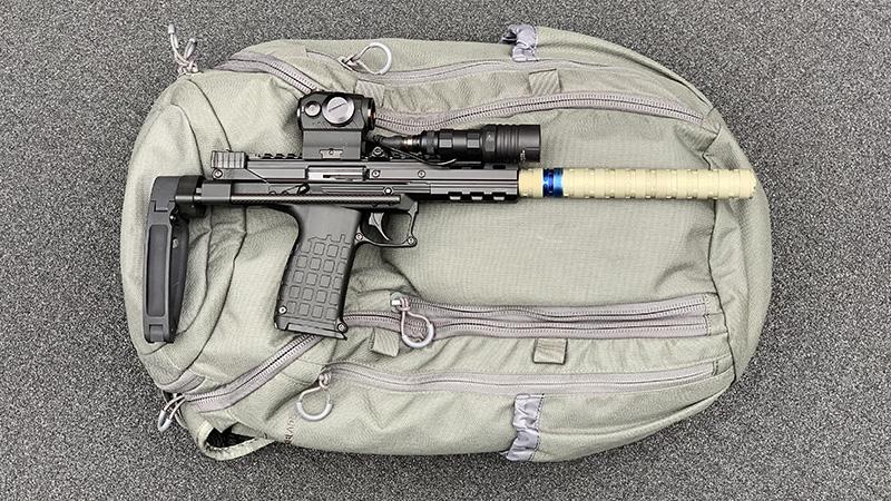 Kel Tec CP33 Backpack right