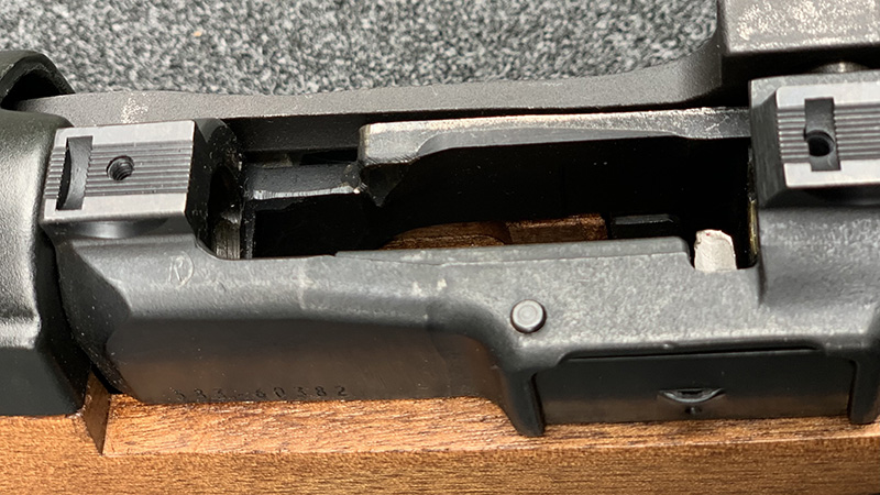 Ruger Mini 14 Bolt Hold Open Button Engaged