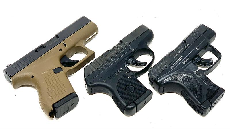 Glock 42 vs LCP angled right