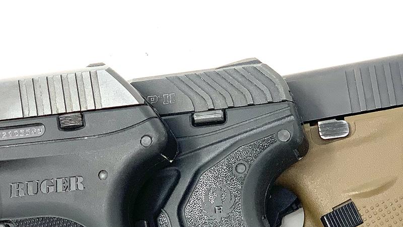 Glock 42 vs LCP slide stop