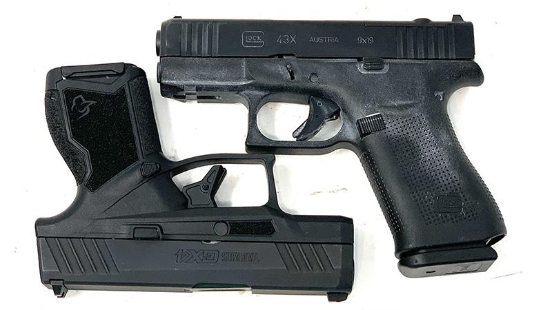 Glock 43x vs Taurus GX4 Square