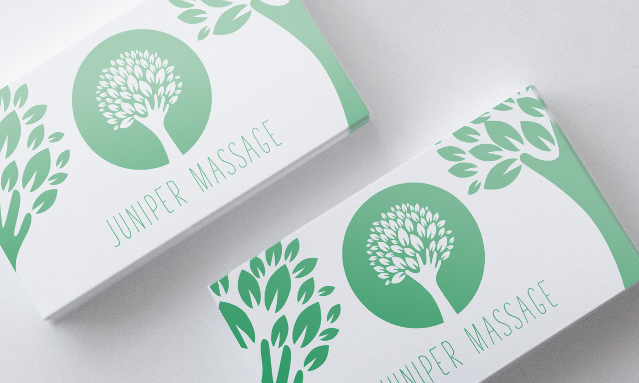 Juniper Massage - Business card