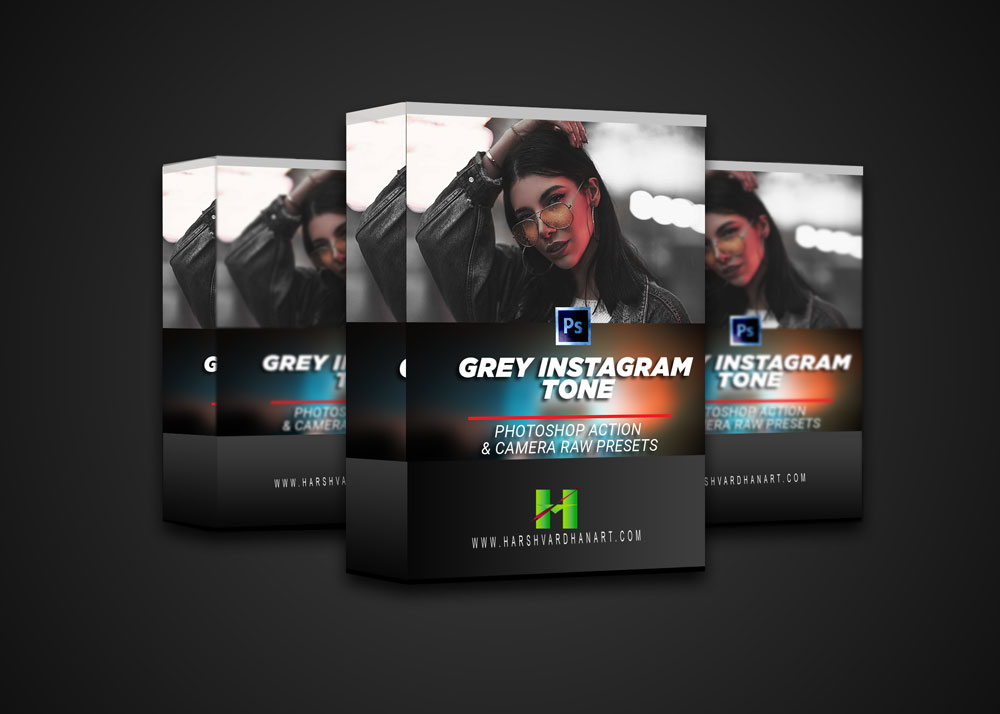 Grey Instagram Tone Photoshop Action+Camera Raw and