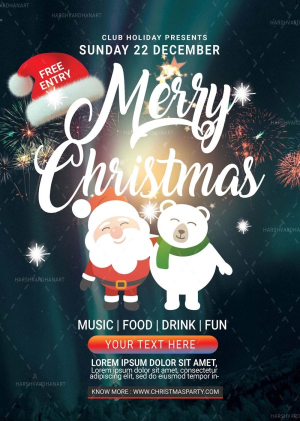 EDITABLE Christmas Flyer Template-Easy to Use and Customize 1