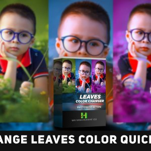 Leaves Color Changer-Free Photoshop Action