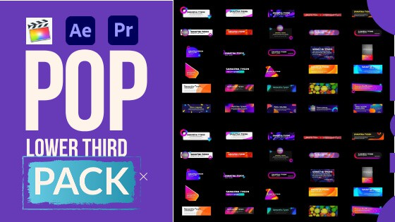 Pop Lower thirds Pack -Review-Tutorial-Download