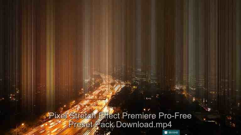 Pixel Stretch Effect Preset Pack- Dreamy Motion Effect-Download