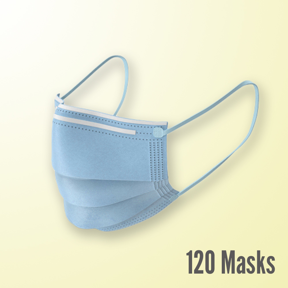 3-Ply Disposable Masks, 120 Count ($0.24 per mask)