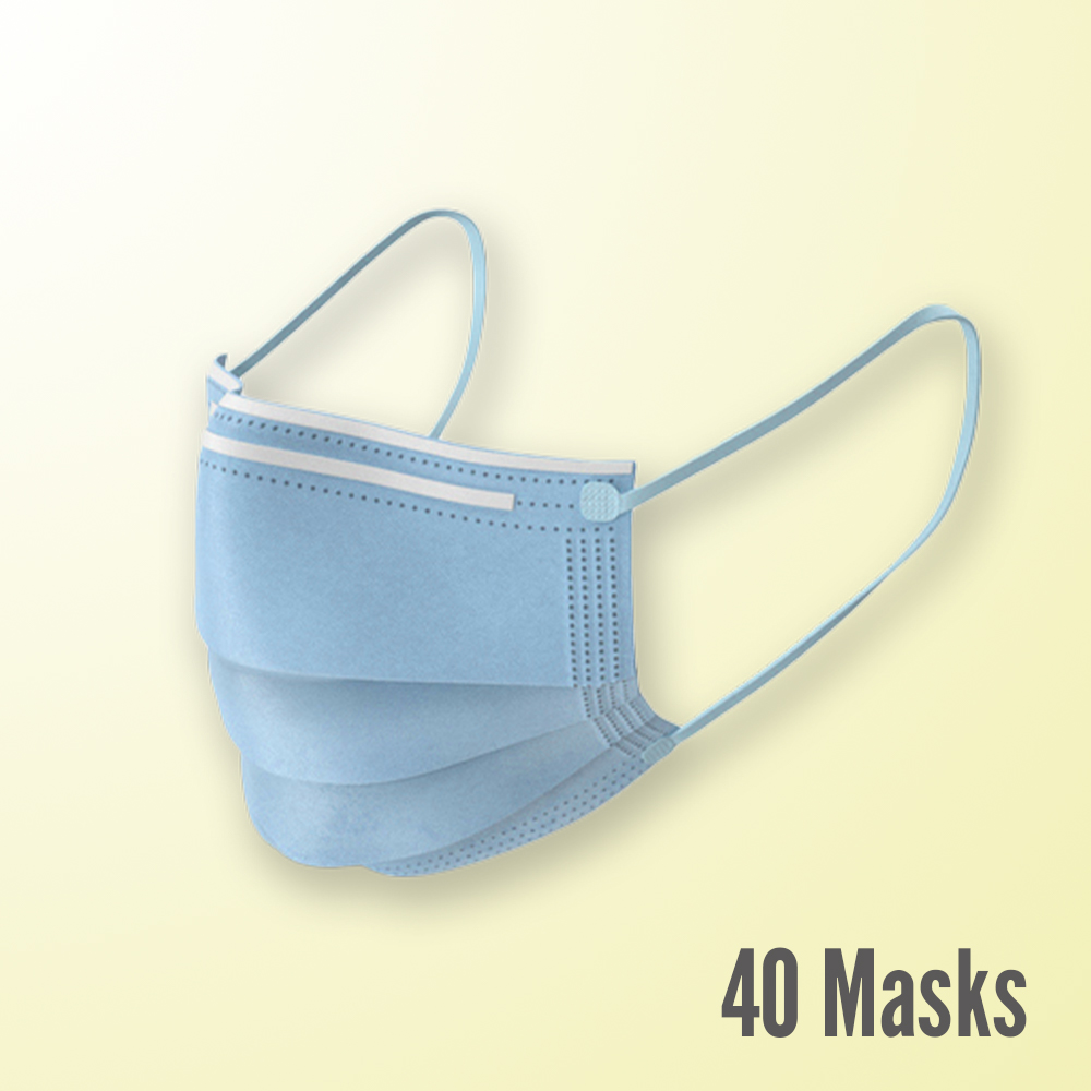 3-Ply Disposable Masks, 40 Count ($0.26 per mask)
