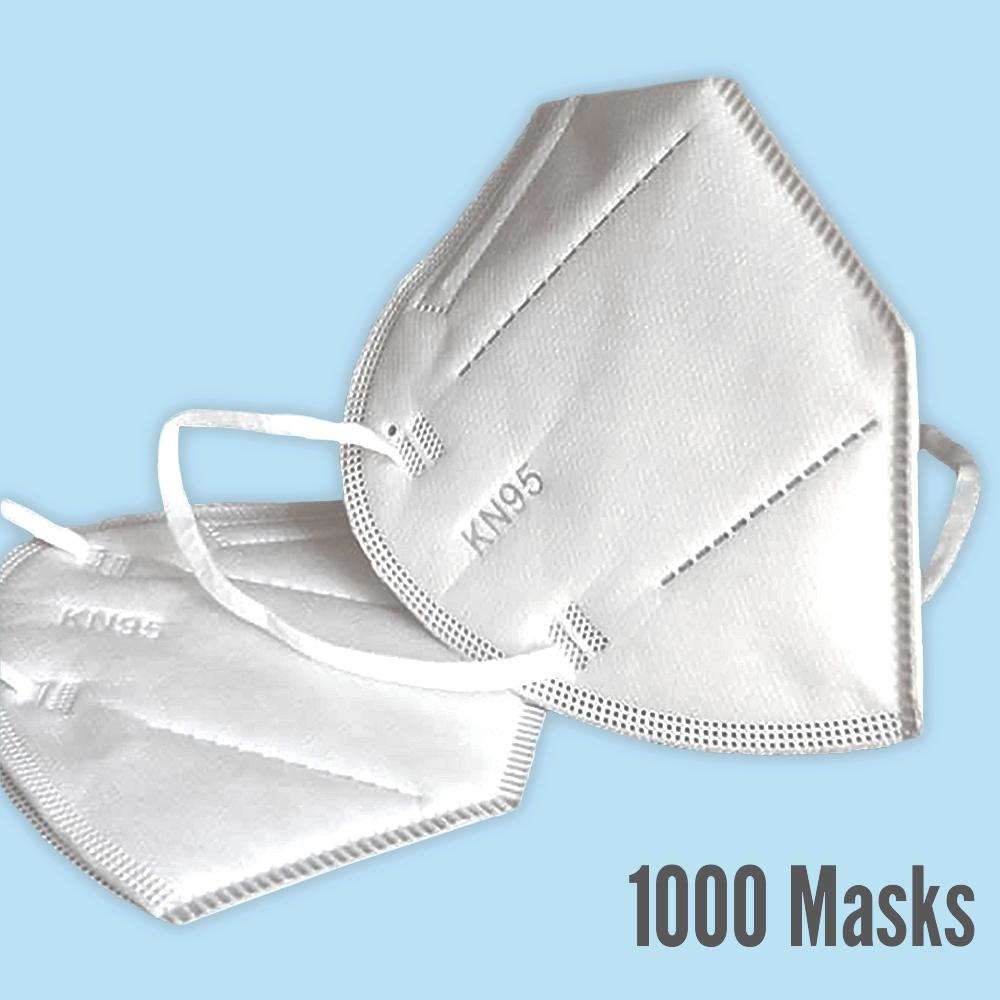 Premium KN95 Masks, 1000 count  ($1.40 per mask)