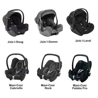 Various car seat options