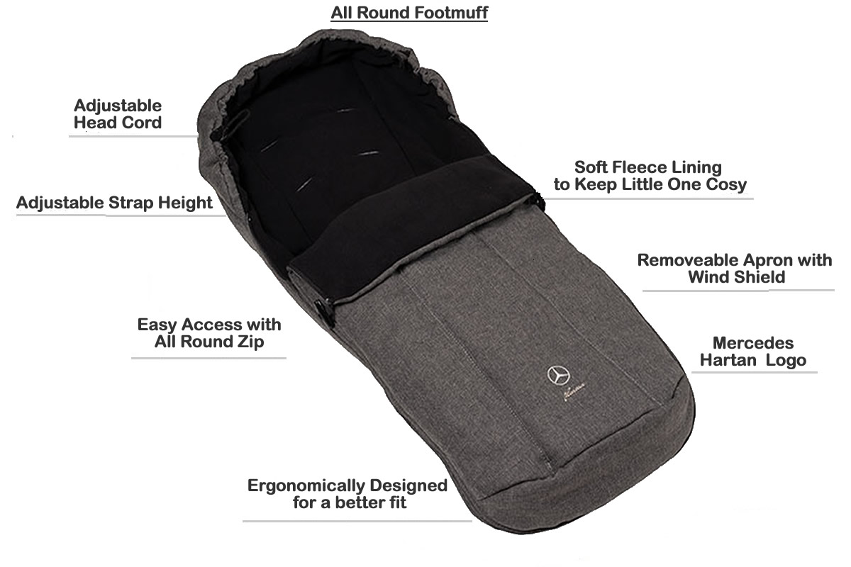 Hartan Mercedes-Benz footmuff features