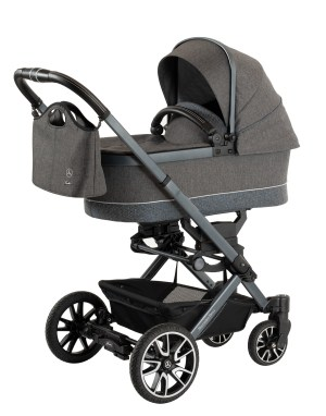 Hartan Mercedes-Benz stroller in Deep Sea with carrycot and Bag2Go